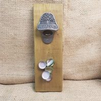 Wall Mounted Marstons Bottle Opener With Cap Catcher